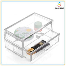 100% new material factory best price flat surface deluxe design acrylic boxes with lids