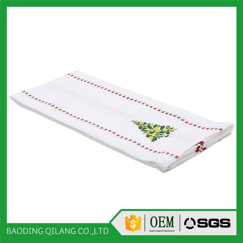 wholesale Christmas kitchen printed Christmas tea towel with cock