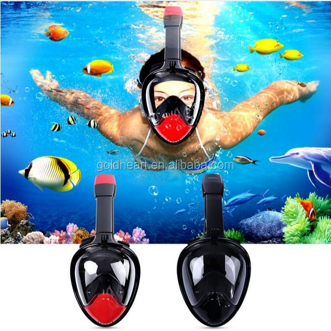 Water Sports Equipment Ninja Scuba Mask,diving mask with ear plug,full face snorkel mask for gopro hero 4