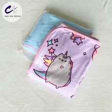 cartoon digital printed 100poly flannel fleece throw blanket for children