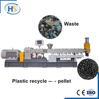 Twin Screw Extruder Plastic Film Machine for Pellet and Granule