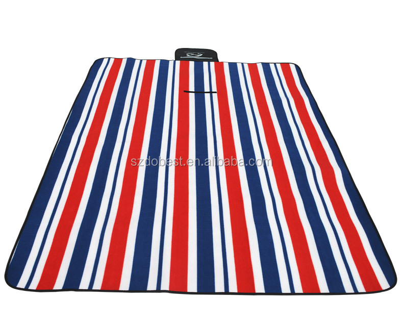 2016 New Promotional custom picnic mat Camping Mat 100polyester fleece waterproof picnic blanket