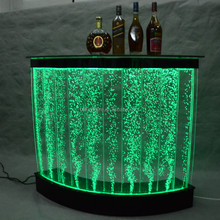 modern led bar counter arc-shaped acrylic bar furniture used light glass table