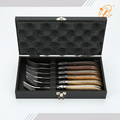 Top sale 6 pcs stainless steel laguiole steak fork flatware set