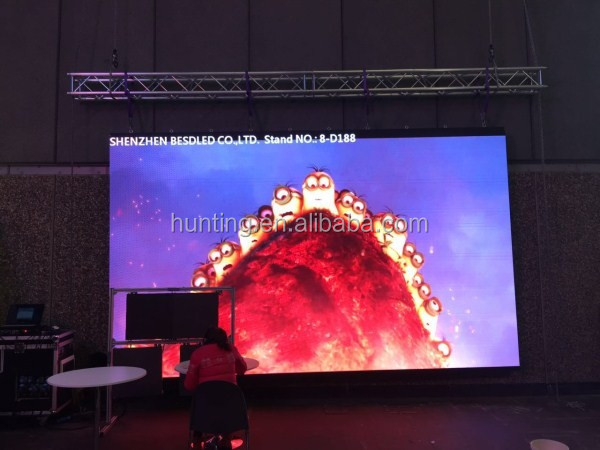 15sqm 2017 ISE Show p3.91 led disco panel / dj booth led screen