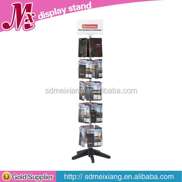 MXJ009 metal greeting card display rack / brochure floor rack / metal display rack