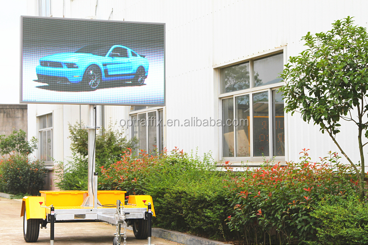 OEM Led Screen Advertising Colorful Message Board Outdoor Full Color Led Display Sign Advertising Trailer