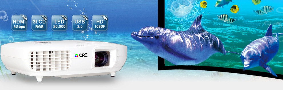 Factory price top rank 16:9 widescreen 3 led 3 lcd projector 1080p full hd ,video projector home theater
