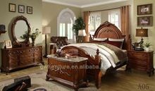 king size antique round bed