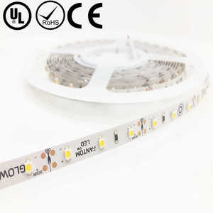 UL Listed Nonwaterproof 12V 80RA CRI Warm White 3528 LED Strip Lights