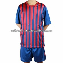 Soccer uniform with customize logos