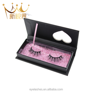 3D Real Mink False Eyelashes 100% Siberian Mink Fur Luxurious Fluffy Messy Cross Long Different Light Weight Faux Eye Lashes