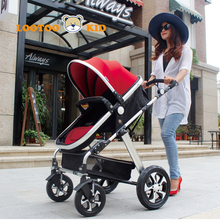 Hot selling 2018 new europe luxury baby stroller / pink prams for newborn / russian stroller