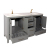 TANG-60 bathroom vanity worth multiple storage design