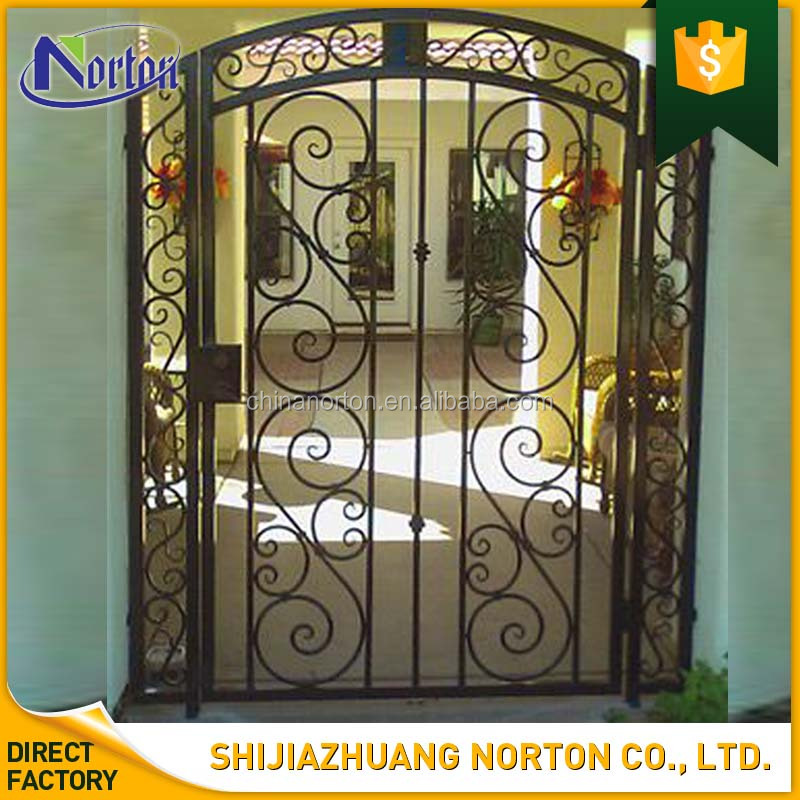 house used wholesale wrought iron front door security iron gates NT-WI178Y