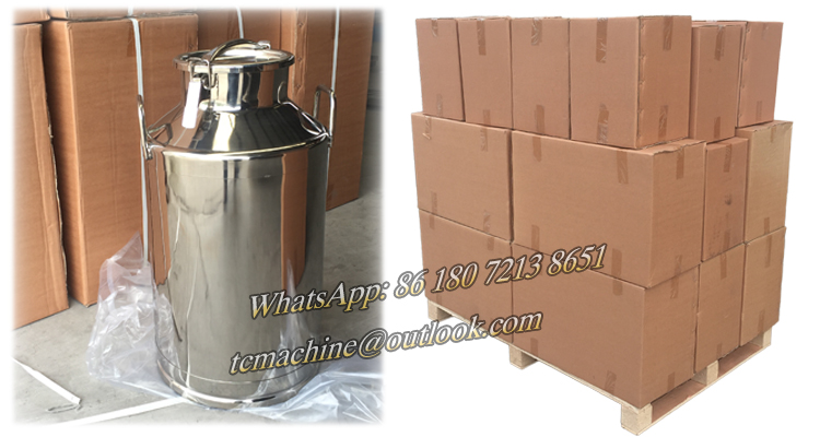 25Liter stainless steel milk churn milk bucket