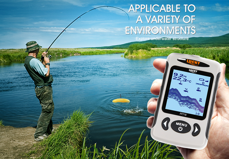 New Portable Sonar LCD Alarm Sea Contour Ice 100M Fish Finder