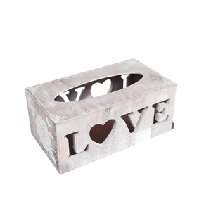 Wholesale home decoration handmade high quality custom design luxury rectangular toilet and car wooden tissue holder box