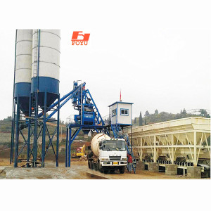HZS60 concrete batching plant dry powder mixing plant ready mix for sale and medium small concrete mixing plant manufacturers