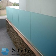 green tempered glass balustrade, balcony railing, thickness 4-19mm