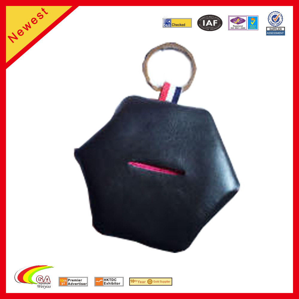 new fashion style felt leather student keychain coin purse small wallet