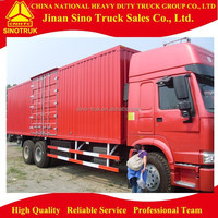 sinotruk 6x4 transport vehicle box cargo truck for sale