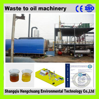 continuous waste motor oil recycling machine with2 years warranty