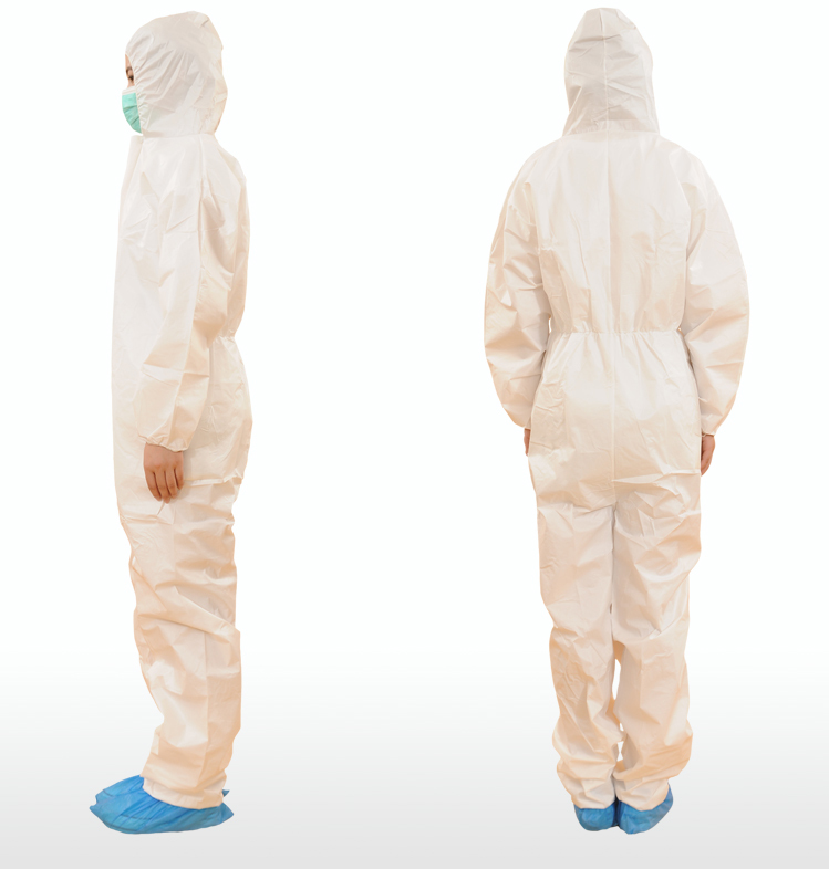 Medical fire resistant waterproof disposable coverall