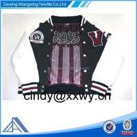 custom embroidery varsity jacket for women/men