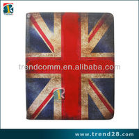 British flag design tablet computer smart leather case cover for Apple ipad 4
