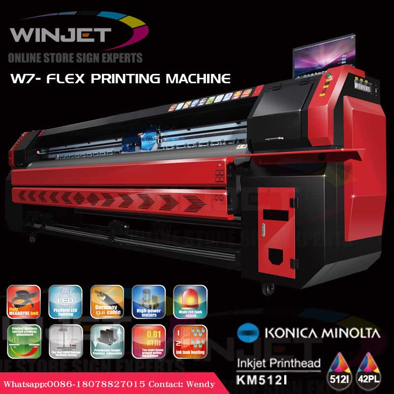 high speed 10.5feet W7 konica printing machine 3.2m 3200mm new stype hot sell flex printing machine price
