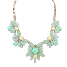 High quality gold filled jewelry very simple beautiful necklace design elegant green jade necklace PN2767