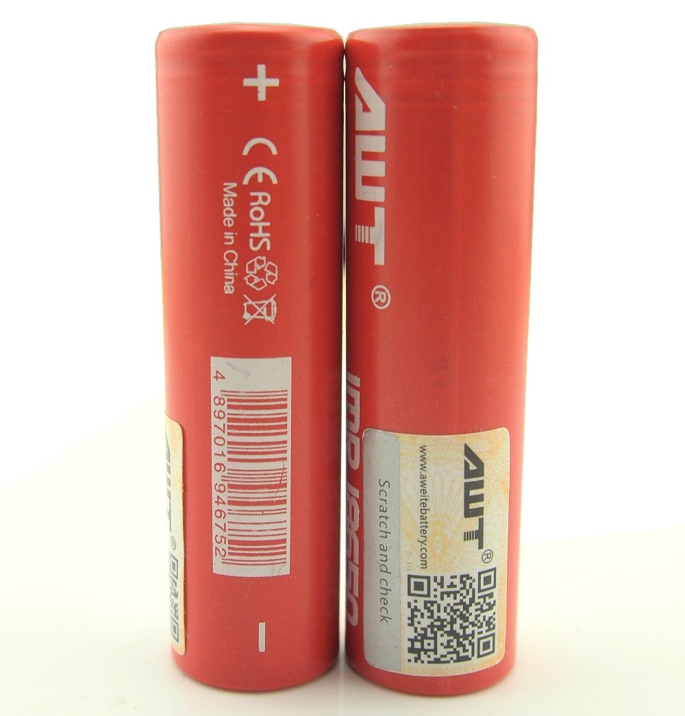 AWT Wholesale Li-Ion 18650 Battery,3.7V Lithium Battery,40A 3000mAh Rechargeable Battery For Vapor mod