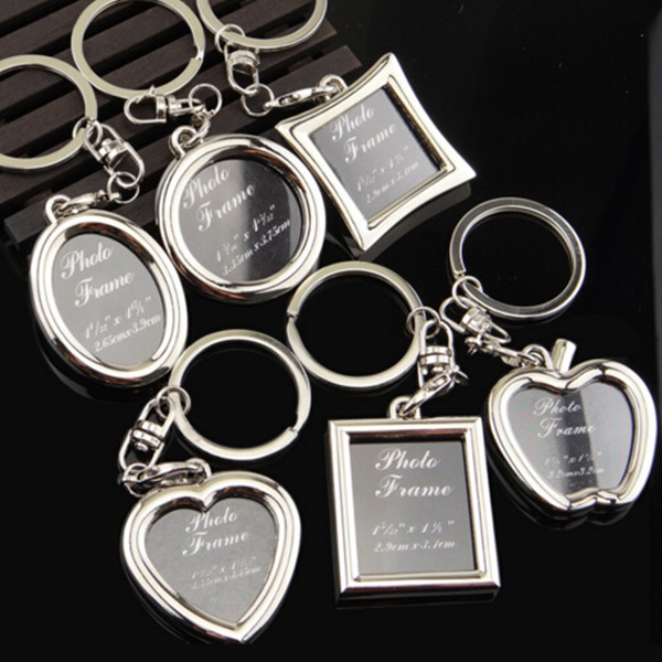Custom digital photo frame keychain various shape photo frame keychain