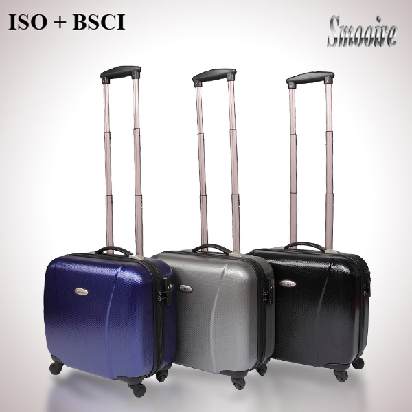 14 inch business style 100% PC polycarbonate trolley computer bag