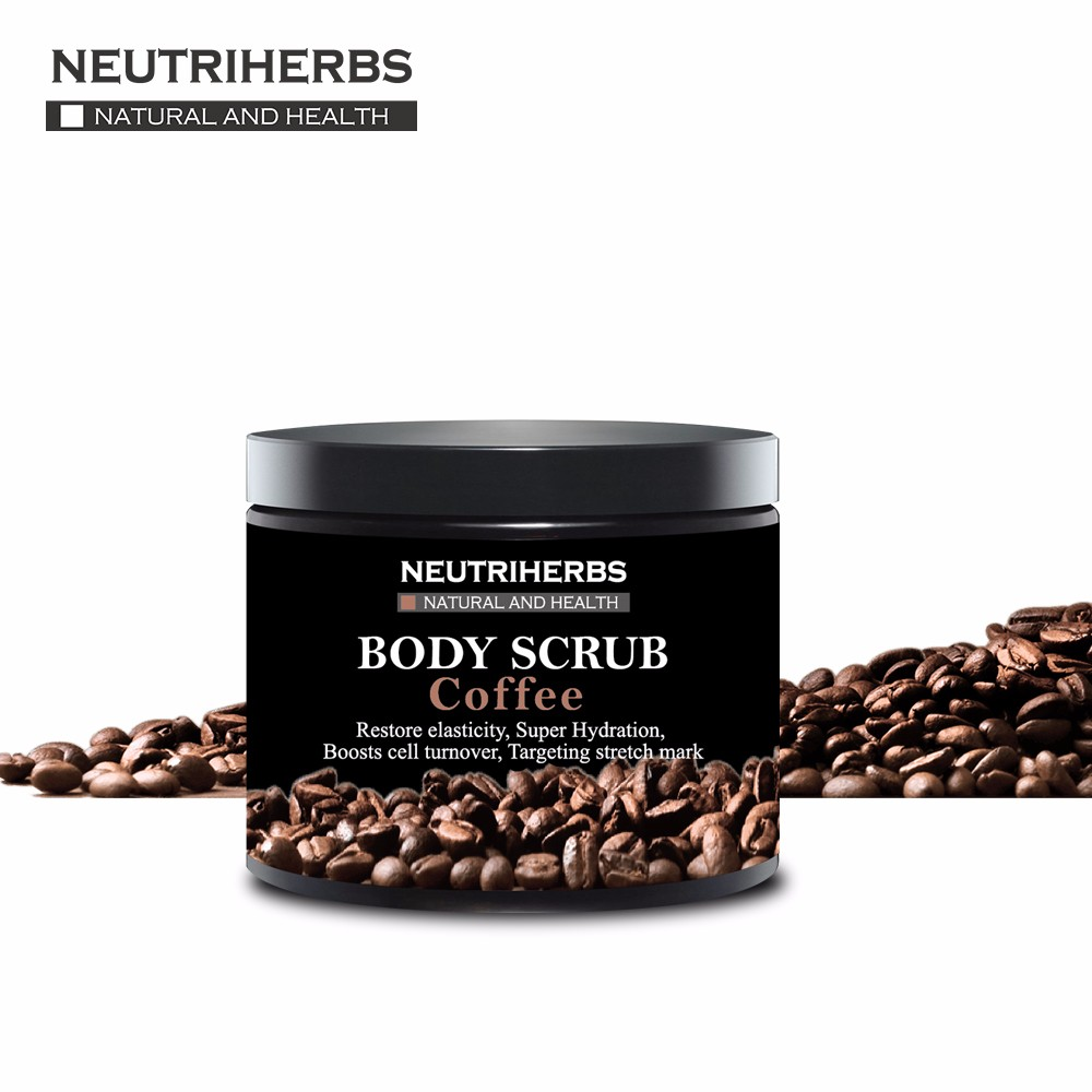 names of cosmetic companies Neutriherbs natural herbal moisturizing Coffee body coconut scrub packaging for women skin care