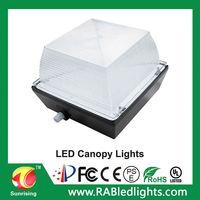 50W 75W Dimmable 120-277V 0-10v dimming motion sensor UL UL Canopy Led Lights Led Parking Garage Led Canopy Light