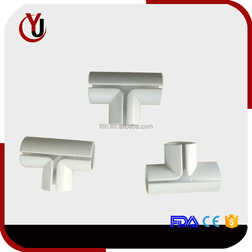 FTTH plastic/pvc pipe fitting tee