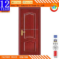 High Quality Interior French Door Simple Pattern Wood Front Door Wholesale Price Solid Wood Entrance Doors