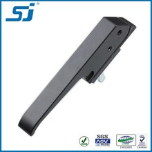 Ningbo Black metal powder coated cabinets l handle lock MS887-1