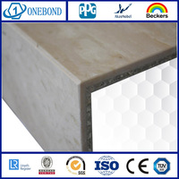 ONDBOND Stone Wall Cladding aluminum honeycomb panel curtain for building cladding with low price