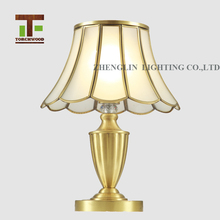 Beautiful custom popular retro brass lamp stand reading room table lamp