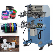 wristband silk screen printer bracelet machine for printing silicon hat band