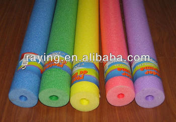 Hollow foam swimming pool noodles