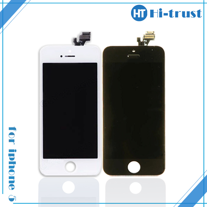 Free DHL shipping, 100% HIGH Quality Grade A LCD digitizer assembly for iphone 5