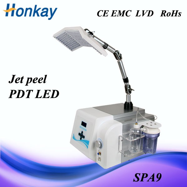 2 in 1 Oxygen jet peel LED device// water jet peel facial system