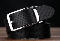 Male and female Alloy revolve buckle genuine leather belt