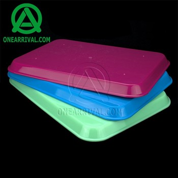 Eco friendly high quality dental autoclavable plastic flat tray
