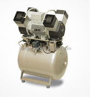 High pressure 50 liter oil-less compressor for four dental units