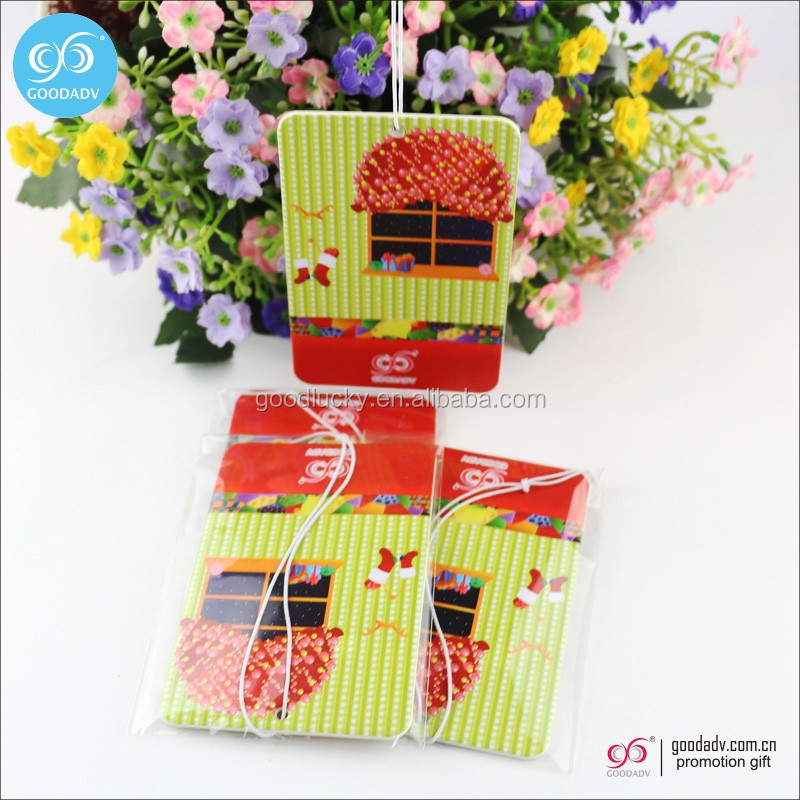 Paper car air freshener Fashionable Printed car air f resheners AF-015